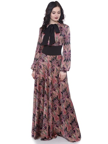 Платье jadi, цвет черно-малиновый