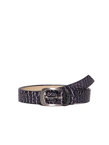 Ремень Rm-006, цвет фиолетовая рептилия