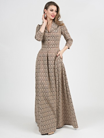 Платье delisha, цвет шоколадно-ванильн