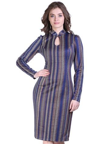 Платье josefa, цвет бежево-синий