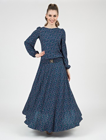 Платье brena, цвет бирюзово-синий