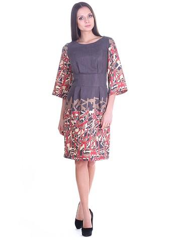 Платье kariny, цвет мокко с красным