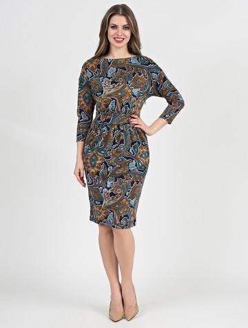 Платье dilara, цвет сине-бирюзовый