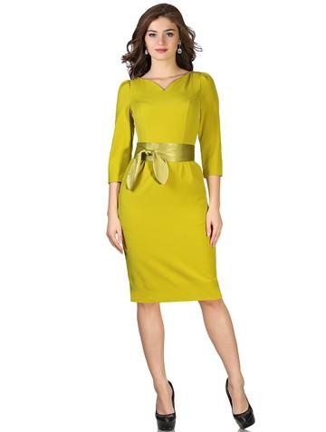 Платье faina, цвет охра