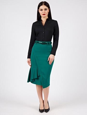Юбка virinea, цвет темно-зеленый