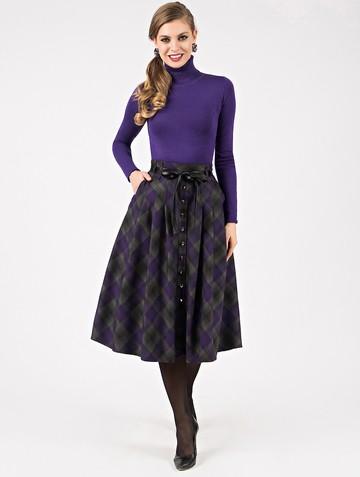 Юбка geminy, цвет серо-фиолетовый
