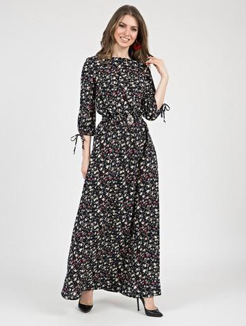 Платье assanta, цвет черно-желтый