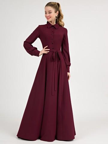 Платье labella, цвет бордовый