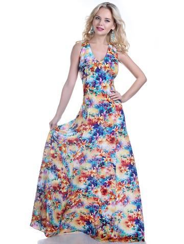 Платье narny, цвет желто-бирюзовый