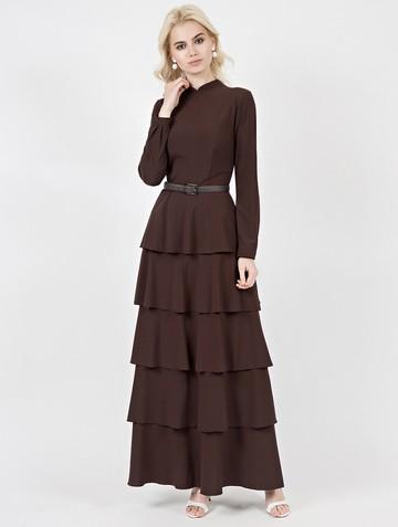 Платье avatta, цвет шоколадный