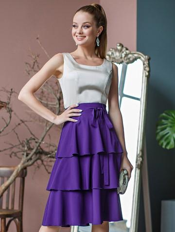 Юбка ivony, цвет фиолетовый