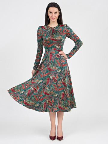 Платье agnetta, цвет бирюзово-красный
