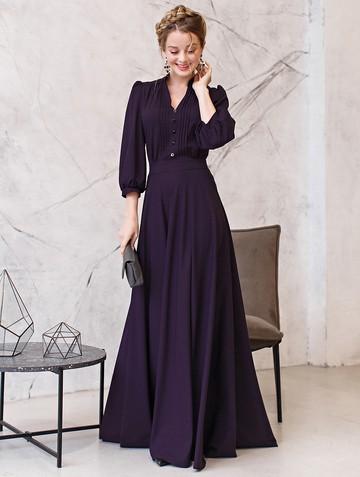 Платье miroslava, цвет темно-фиолетовый