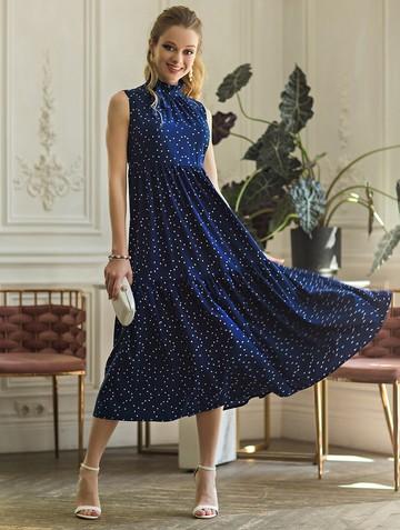 Платье rosna, цвет темно-синий