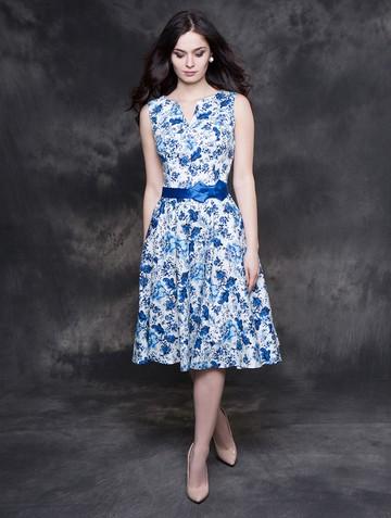 Платье irada, цвет молочно-синий