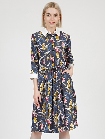 Платье kibbly, цвет сине-желтый