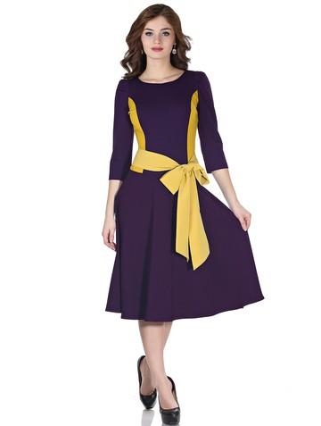 Платье dendy, цвет фиолетово-желтый