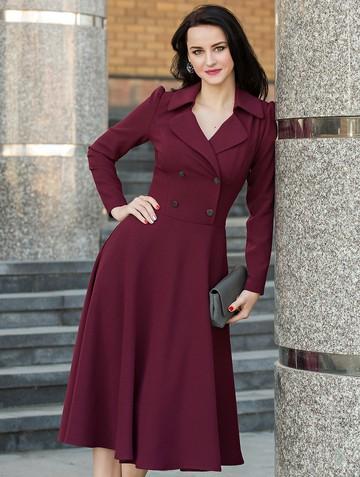 Платье medina, цвет бордовый