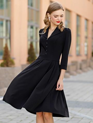 Платье lussy, цвет черный