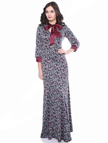 Платье malfoya, цвет черно-бордовый