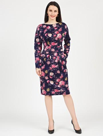 Платье nisetty, цвет сине-розовый