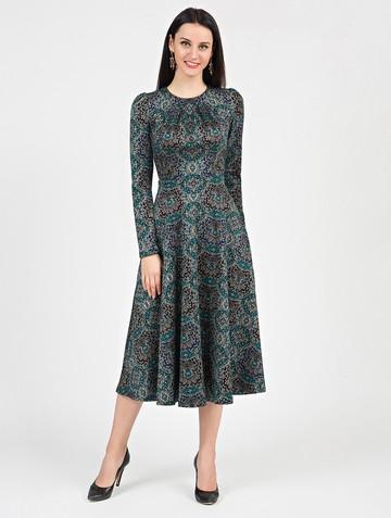 Платье agnetta, цвет черно-изумрудный