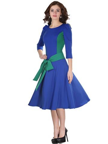 Платье dendy, цвет сине-изумрудный