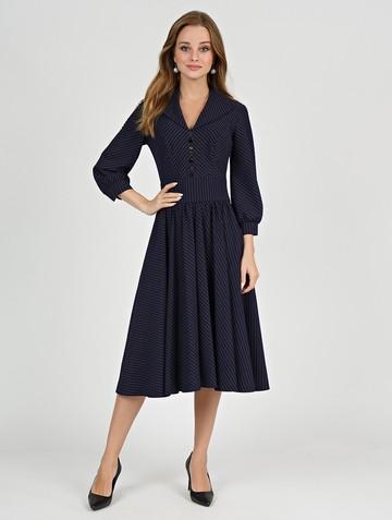 Платье berta, цвет темно-синий