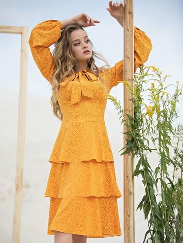 Платье linsy, цвет шафрановый