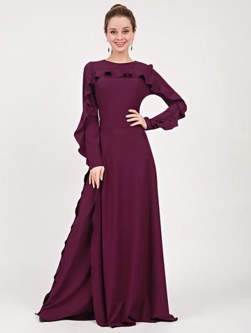 Платье soledat, цвет сливовый