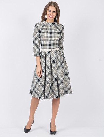 Платье taisia, цвет серо-черный