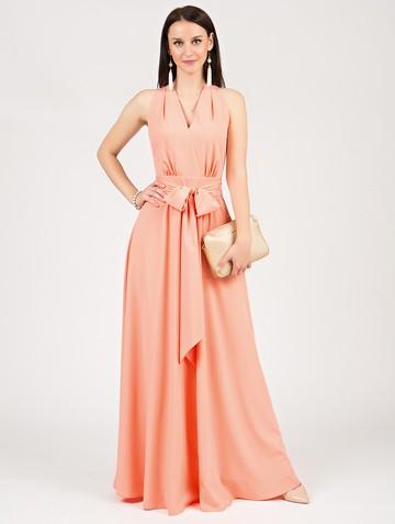 Платье helmy, цвет персиковый