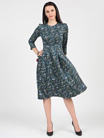 Платье elsy, цвет сине-зеленый