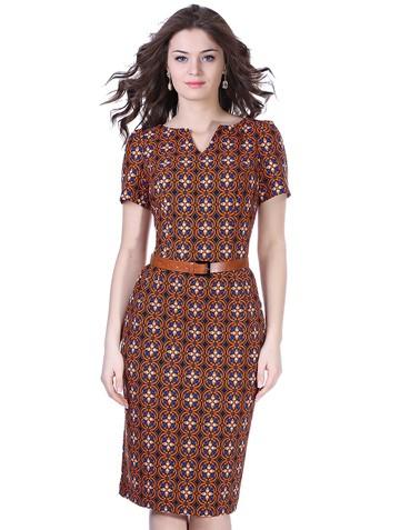 Платье tina, цвет черно-оранжевый