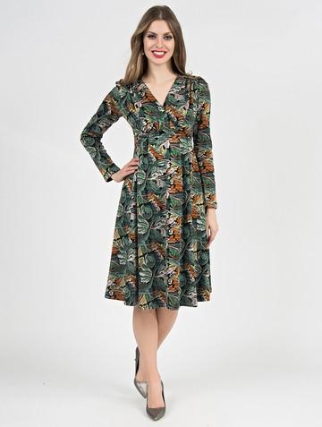 Платье allin, цвет черно-изумрудный