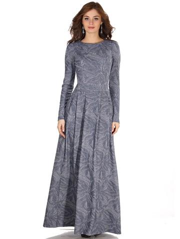 Платье ronda, цвет листья на сер-гол