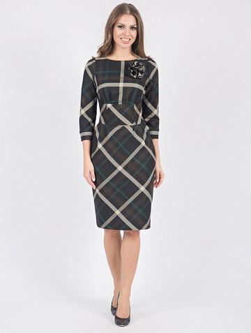 Платье ingrid, цвет черно-изумрудный