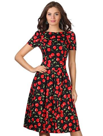 Платье limardjy, цвет вишня на черном