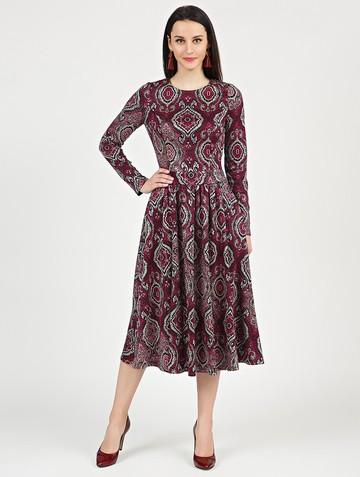 Платье daria, цвет черно-бордовый