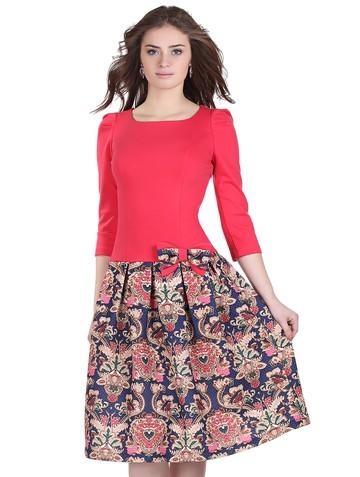 Платье lok, цвет сине-розовый