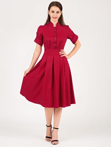Платье mariatta, цвет карминный