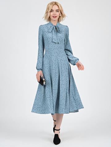 Платье djillia, цвет серо-голубой
