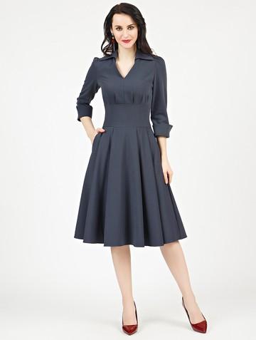 Платье alvina, цвет темно-серый