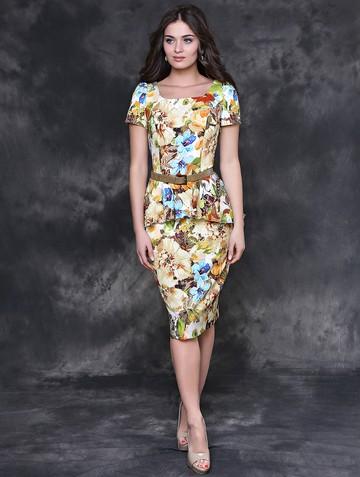 Платье medison, цвет бежево-зеленый
