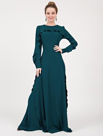 Платье soledat, цвет зелено-бирюзовый
