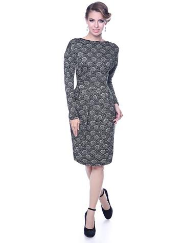 Платье diana, цвет черно-серый