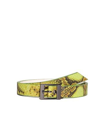 Ремень Rm-007, цвет зеленая рептилия