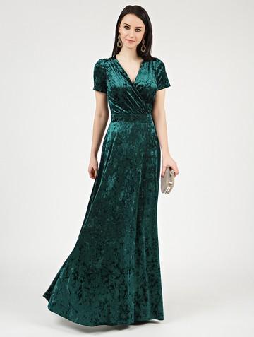 Платье leonida, цвет изумрудный