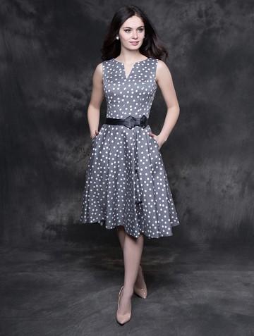 Платье irada, цвет серо-белый горох
