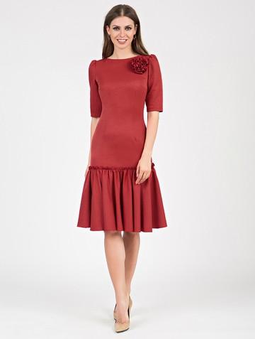 Платье kiello, цвет терракотовый